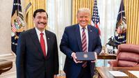 Menko Marves Luhut Binsar Pandjaitan bertemu Presiden AS Donald Trump di Gedung Putih. (Kemenko Marves)