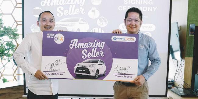 Kerja sama OLX dengan Tunas Toyota untuk #AmazingSeller/Occham Com.