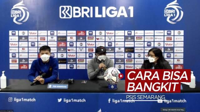 Berita video Pelatih PSIS Semarang, Imran Nahumarury, mengungkapkan caranya untuk membuat para pemain di timnya bangkit dari kebobolan 2 gol saat menghadapi Persija Jakarta pada pekan kedua BRI Liga 1 2021/2022, Minggu (12/9/2021) malam hari WIB.