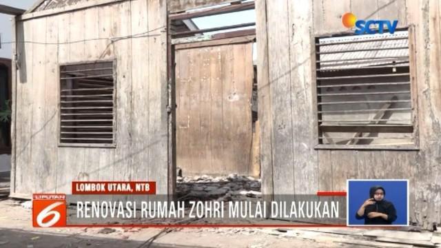 Rumah juara dunia lari 100 meter U-20, Lalu Muhammad Zohri, mulai dilakukan pembongkaran untuk renovasi. Bahkan, Zohri ditawarkan masuk TNI melalui jalur khusus.