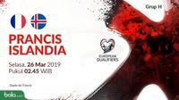 Kualifikasi Piala Eropa 2020 - Prancis Vs Islandia (Bola.com/Adreanus Titus)