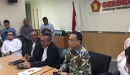 Gerindra mengumumkan dua nama baru bakal wagub DKI di ruang Fraksi Gerindra di DPRD DKI Jakarta, Senin (20/1/2020). (Merdeka/ M Genantan)
