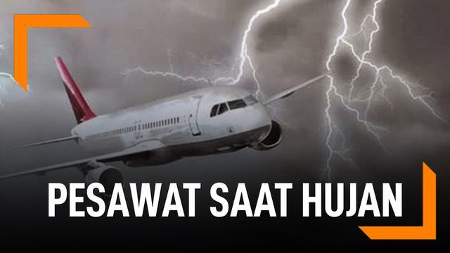 Kemanan Pesawat saat hujan