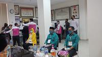 Airin mendampingi Calon Wali Kota Benyamin Davnie dan Calon Wakil Wali Kota Pilar Saga Ichsan.