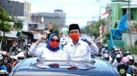 Sitti Sutinah Suhardi dan Ado Mas'ud calon Bupati dan Wakil Bupati Mamuju (Foto: Liputan6.com/Abdul Rajab Umar)