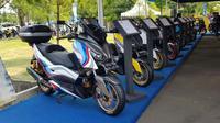 Yamaha Xmax yang telah dimodifikasi diacara CustoMaxi Yamaha 2018. (Herdi Muhardi)