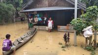 Sejumlah wilayah di Kabupaten Lamandau, Kalimantan Tengah terendam banjir.