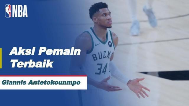 Berita video aksi pemain terbaik, Giannis Antetokounmpo Pada Laga Milwaukee Bucks Melawan Phoenix Suns di Final Playoff NBA 2021.