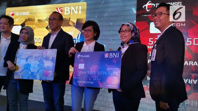 BNI dan Telkomsel Kolaborasi Rilis Kartu Kredit. (Liputan6.com/ Andina Librianty)