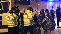 """""""Pelayanan darurat telaah menerima laporan adanya ledakan bom di Manchester Arena,"""" tulisnya memberikan pernyataan dan melaporkan. (APexchange/Bintang.com)"""