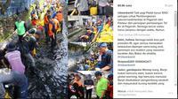 Sebelum banjir bandang terjadi, 1.000 petugas dikerahkan untuk membersihkan sedimentasi di Pagarsih. (Liputan6.com/Dinny Mutiah)