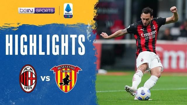 Berita Video Highlights Liga Italia, AC Milan Kalahkan Benevento Dua Gol Tanpa Balas