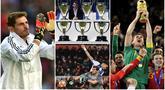 Iker Casillas secara resmi mengumumkan pensiun dari dunia sepak bola setelah 22 tahun menjadi penjaga gawang profesional. Berikut sepak terjang serta prestasi kiper terbaik sepanjang masa Real Madrid dan Timnas Spanyol.