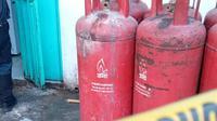 Tabung Elpiji 5 Kilogram Meladak di Rumah Makan Ala Korea di Makassar (Liputan6.com/Fauzan)