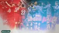 Pemain Liverpool dan Manchester City (Bola.com/Adreanus Titus)