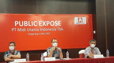 Paparan publik PT Midi Utama Indonesia Tbk (MIDI), Kamis, 6 Mei 2021 (Dok: Pramita Tristiawati/Liputan6.com)