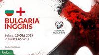Kualifikasi Piala Eropa 2020 - Bulgaria Vs Inggris (Bola.com/Adreanus Titus)