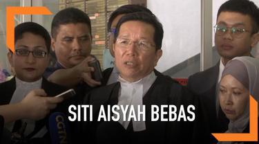 Siti Aisyah bebas dari dakwaan pembunuhan Kim Jong Nam setelah Jaksa menarik dakwaan tersebut terhadapnya. Hakim dan Jaksa tidak memberikan alasan sebenarnya dibalik bebasnya Siti Aisyah.