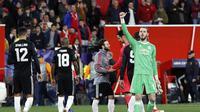 De Gea menyamai rekor Edwin van der Sar di Liga Champions. (AP Photo/Miguel Morenatti)