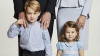 Pangeran George dan Putri Charlotte (AP)