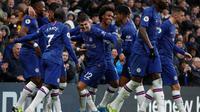 Chelsea memetik kemenangan 2-0 atas Crystal Palace pada laga pekan ke-12 Premier League musim ini, di Stamford Bridge, Sabtu (9/11/2019). (AFP/Adrian Dennis)