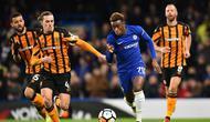 Callum Hudson-Odoi sudah tampil untuk Chelsea sejak musim lalu (Glyn KIRK / AFP)