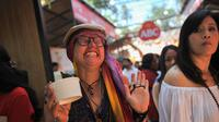 Reaksi bule menjajal mi terpedas dunia di Ubud Food Festival (UFF) ABC (Liputan6.com/Pool/ABC)