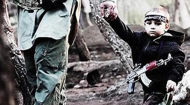Bocah 3 tahun dalam propaganda ISIS