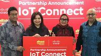 Kerja sama antara Indosat Ooredoo dan Cisco untuk siapkan layanan IoT (kredit: istimewa)