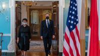 Menlu Retno Marsudi mengunjungi Menlu AS Anthony Blinken di Washington D.C, Rabu (4/8/2021). (Foto: Twitter/@SecBlinken)