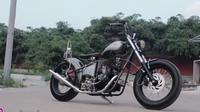 Modifikasi Motor W175 Menjadi Chopper Bikin Takjub. sumberfoto: Street Arts Custom