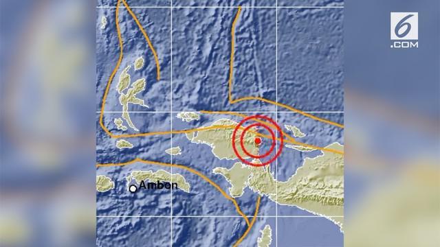 Gempa mengguncang Manokwari Selatan, Papua barat. Informasi dar Badan Meteorologi, Klimatologi, dan Geofisika (BMKG) menunjukan kekuatan gempa 6,1 magnitudo.