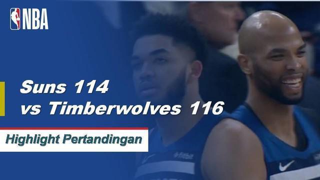 Derrick Rose skor 31 saat Timberwolves melewati Suns, 116-114.