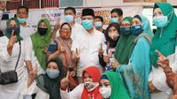 Cagub Kalteng Ben Bahat berkunjung ke Muslimat Kotim. (Foto: Istimewa)