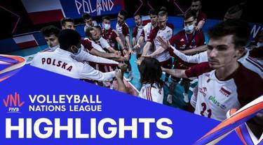 Berita Video, Highlights Volleyball Nations League Polandia Vs Iran (3-0) pada Selasa (22/6/2021)