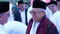 Cawapres Ma'ruf Amin diangkat menjadi warga Mandailing Natal. (Liputan6.com/ Putu Merta Surya Putra)