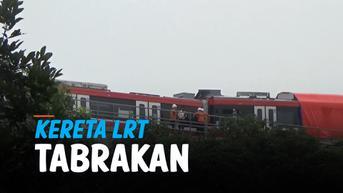 VIDEO: Gerbong Depan Rusak, Begini Kondisi Kereta LRT yang Tabrakan di Jakarta Timur