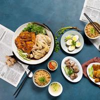 Nasi ayam hainan khas Singapura. (Foto: Wee Nam Kee)