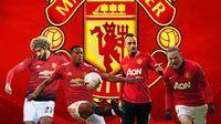 Manchester United - Marouane Fellaini, Anthony Martial, Dimitar Berbatov, Wayne Rooney (Bola.com/Adreanus Titus)