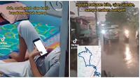 Tak tega lihat anak belajar lewat hp, Babeh Ary ojol banting tulang belikan laptop. (Sumber: TikTok/babehojol)