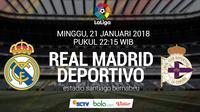 La Liga_Real Madrid vs Deportivo La Coruna (Bola.com/Adreanus Titus)