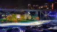 Berikut parade kostum dari 44 negara di pembukaan Asian Games 2018. (Foto: Liputan6.com/ meita fajriana)