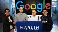 Startup pemesanan tiket kapal feri online, Marlin Booking, saat mengunjungi kantor Google di Mountain View, Amerika Serikat. (Foto: Merdeka.com)