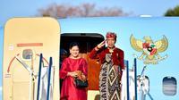 Jokowi saat tiba di Malaysia menggunakan busana adat khas Bali bersama Ibu Negara Iriana (dok.Instagram@Jokowi/https://www.instagram.com/p/B05667hB6Uc//Devita Nur Azizah