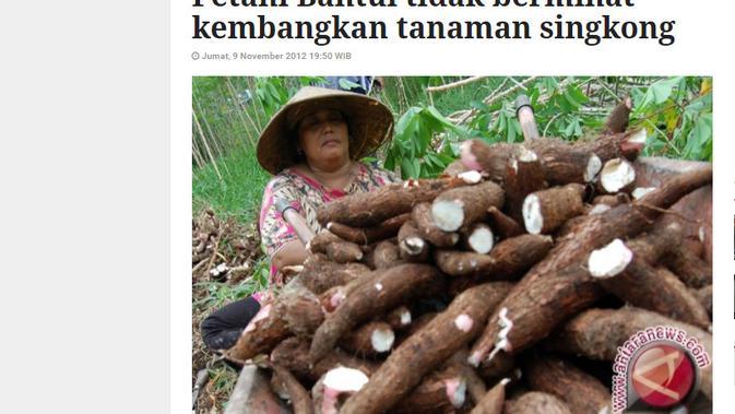 Cek Fakta Liputan6.com menelusuri klaim foto Prabowo menjadi petani singkong