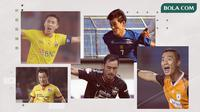 Oh In-kyun, Yoo Hyun-goo, Yoo Jae-hoon, Lee Yoo-joon, Shohei Matsunaga. (Bola.com/Dody Iryawan)