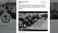 Unggahan Ridwan Kamil di Twitter (@ridwankamil)