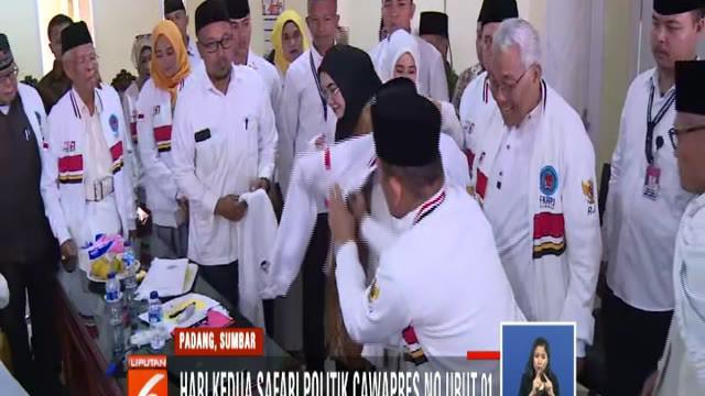 Dalam kesempatan ini, Ma'ruf Amin mengatakan pentingnya dukungan kaum milenial untuk kemenangan suara bagi paslon nomor 01 Jokowi-Ma'ruf Amin.