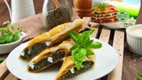 Spinach and Ricotta Roll, resep kreasi Chef Devina Hermawan berbahan bayam yang cocok untuk sarapan. (dok. Greenfields)