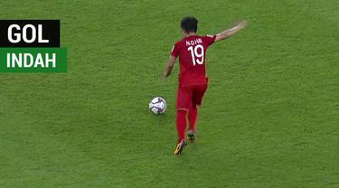 Berita video momen gol indah yang dicetak pemain terbaik Piala AFF 2018, gelandang Vietnam, Nguyen Quang Hai, ke gawang Yaman di ajang Piala Asia 2019, Rabu (16/1/2019).